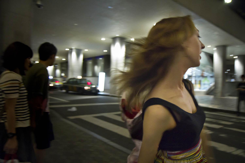 Emily running to izakaya