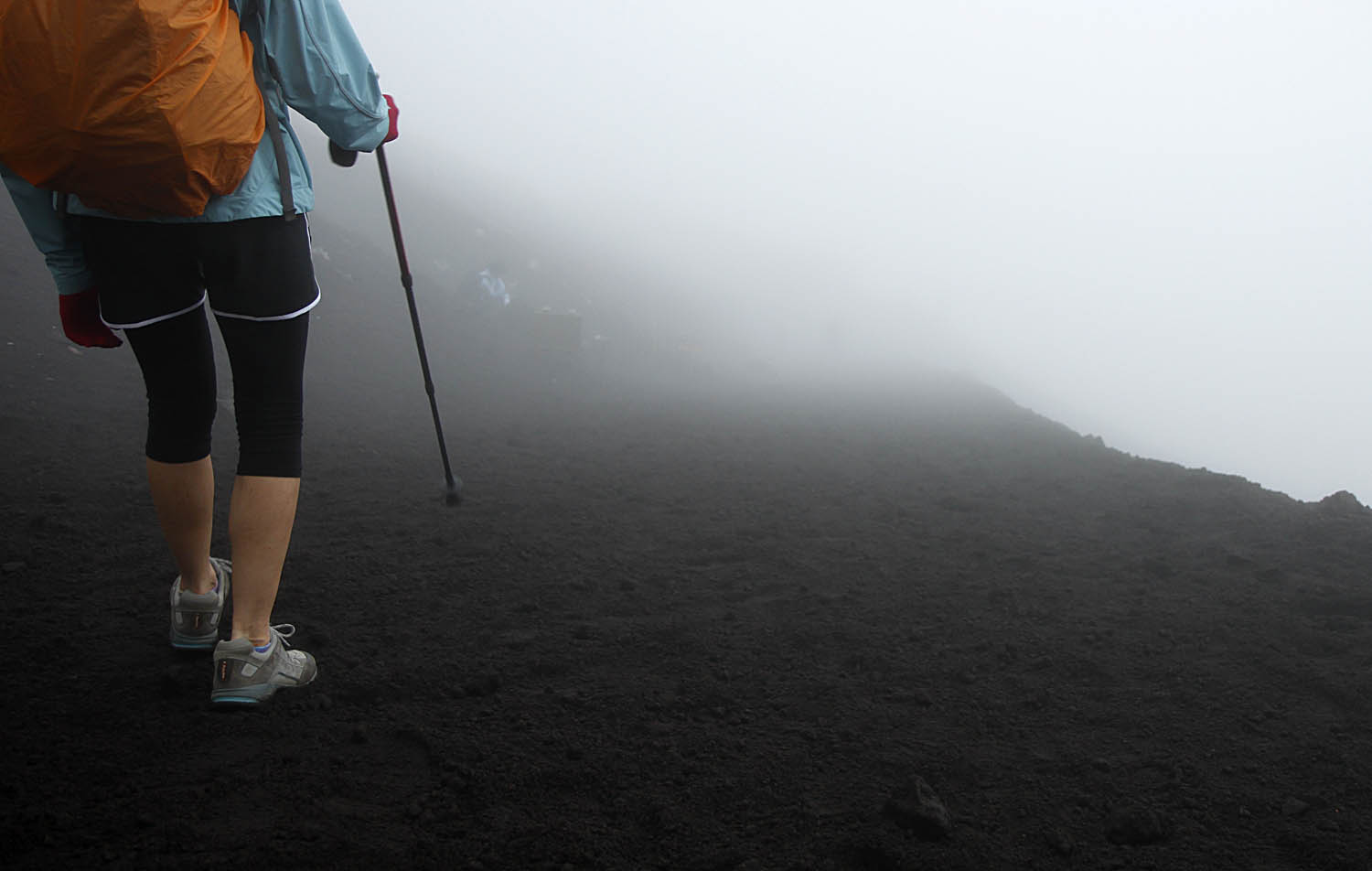 Walking into the fog